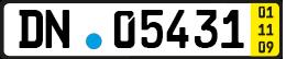 Kurzzeitkennzeichen