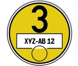 Feinstaubplakette Gelb
