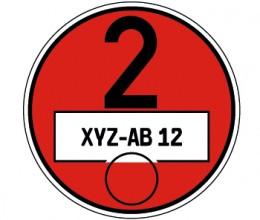 Feinstaubplakette Rot