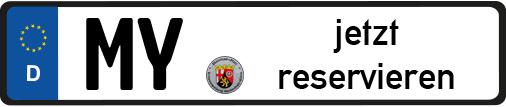 MY Wunschkennzeichen Mayen Koblenz