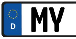 Kennzeichen MY Mayen